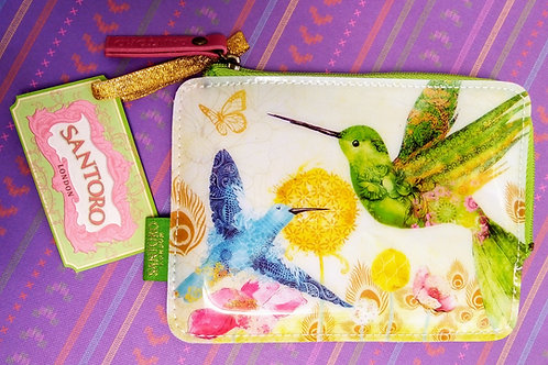 Hummingbird Zip purse by Santoro