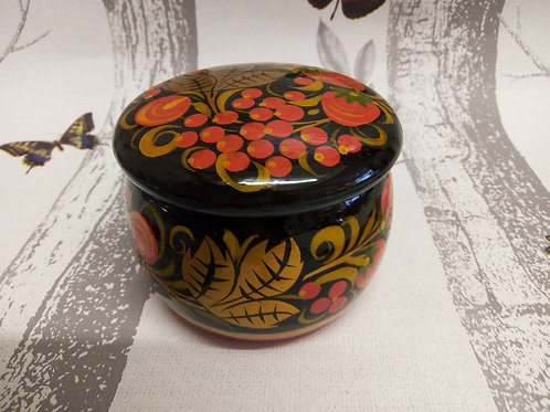 Black, Gold and Red Khokhloma Trinket Box