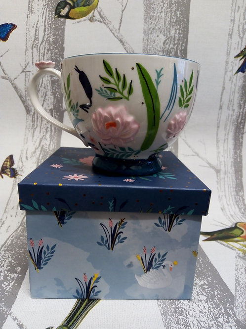 Secret Garden Swan Large Tea Cup in a Gift Box, House of Disaster