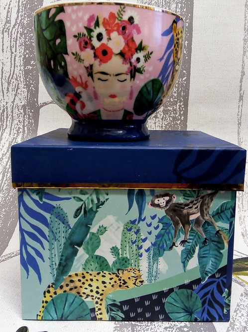Frida Khalo Large Tea Cup in a Gift Box, House of Disaster
