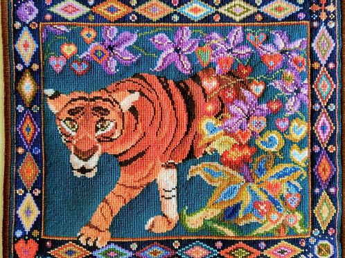 Stunning Tiger Tapestry Kit, Original by Animal Fayre Designer Tapestry Kits