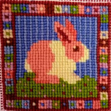 Animal Fayre Designs Little Pink Bunny Tapestry Pin Cushion Kit