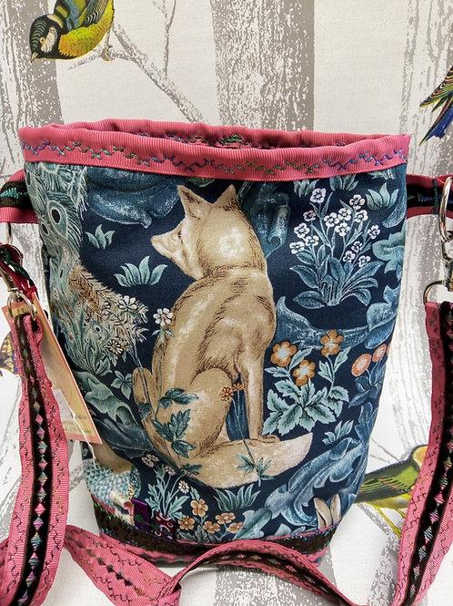 Fox and Hare Cross Body Bag, William Morris, Animal Fayre Designs