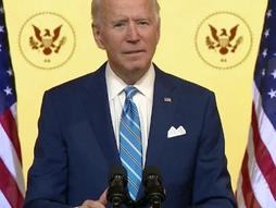 President-elect Joe Biden is delivering a Thanksgiving address.
