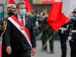 Peru's interim president announced his resignation Sunday