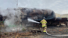 Asphalt tank On flame in Frederick  County