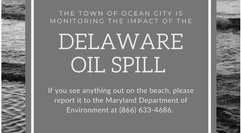 Delaware Oil Spill Arriving In Ocean City Maryland Due to Southern Current