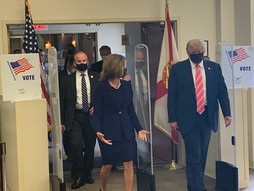 'I voted for a guy named Trump': President Trump casts a ballot in Florida