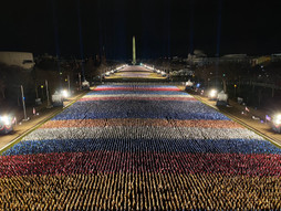 200K flags placed on the National Mall ahead of Biden inauguration