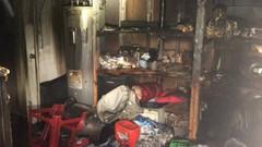 Damascus - single-family house, basement fire