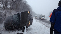 In the first winter storm, DMV reported over 600 vehicle accidents