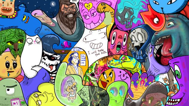 Sunday Drawing Jam - Shapes Theme
