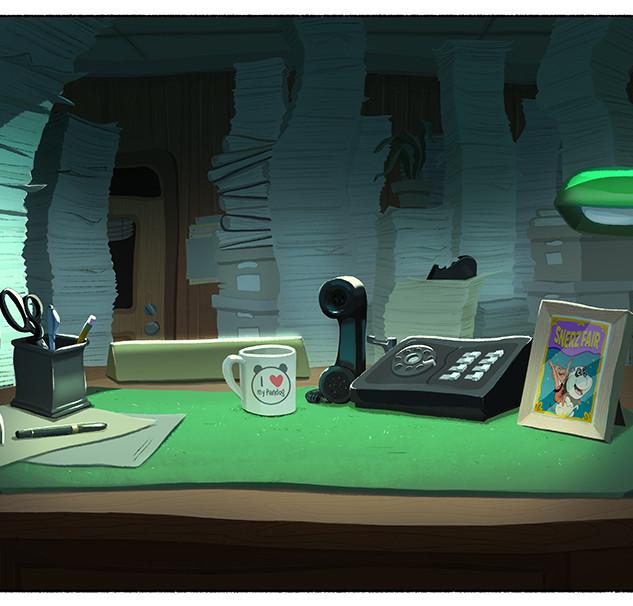Bigman's Office Desk