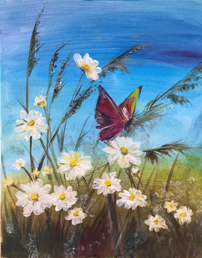 Daisies & Butterfly 25/10/2019