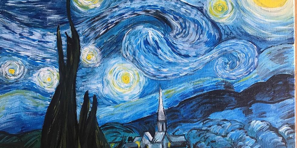 Saturday 5pm -  Van Gogh Starry Night ⭐✨ (Popular & Selling Fast!)