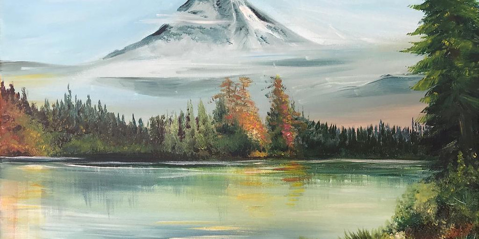 Mountain & Lake - Bob Ross inspired