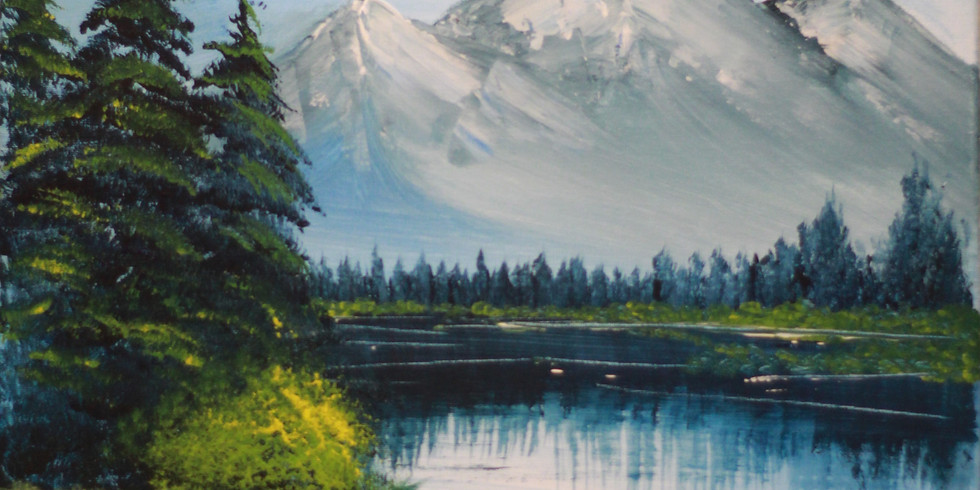 Snowy Mountains - Bob Ross inspired