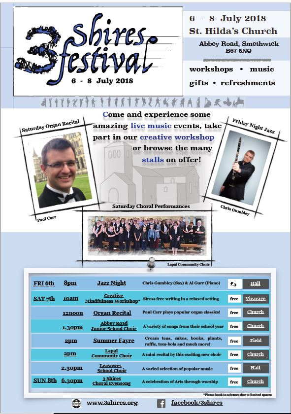Come and see us at the 3 Shires Festival! | Love singing, having fun