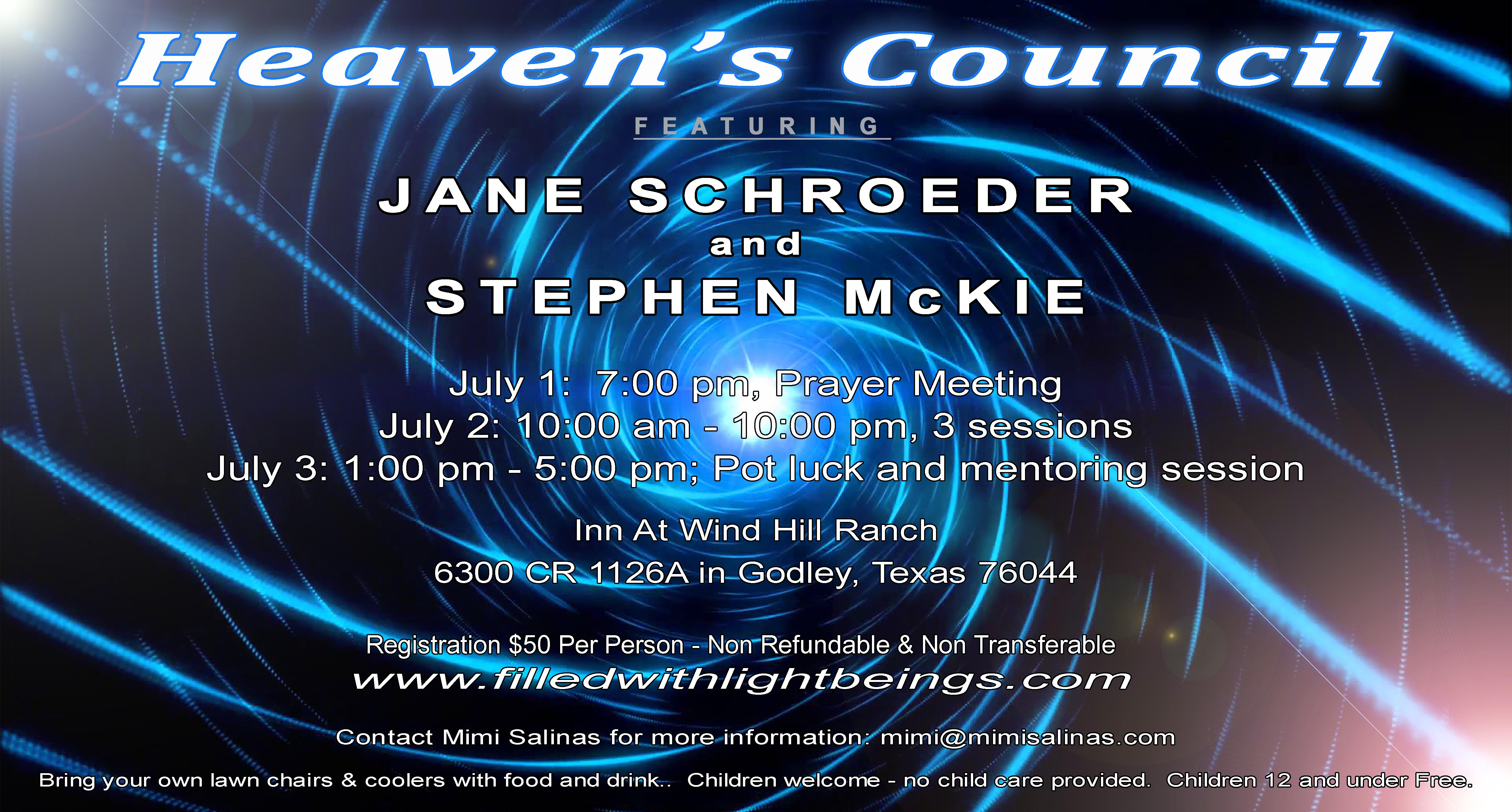 Heaven's Council CONFERENCE ADVERT