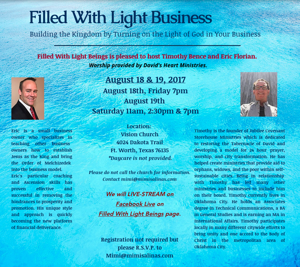 FILLED WITH LIGHT BUSINESS