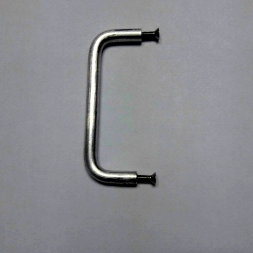 aluminum handle for accordion shutters, two screws inserted