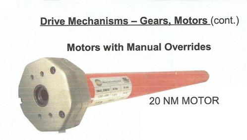 Large Tubular Motors Manual Override Order Hurricane