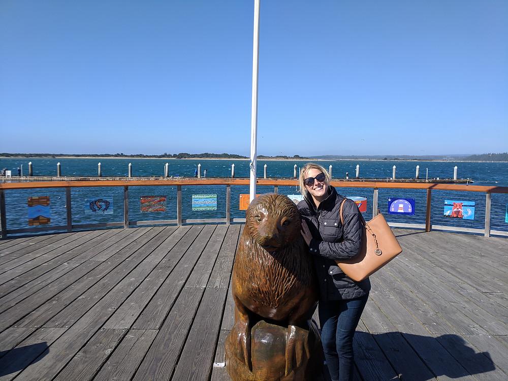 Sea Lion statue in Bandon, OR