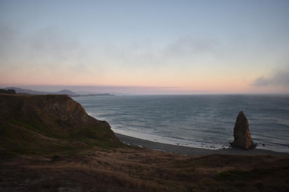 Sunset at Port Orford, Oregon