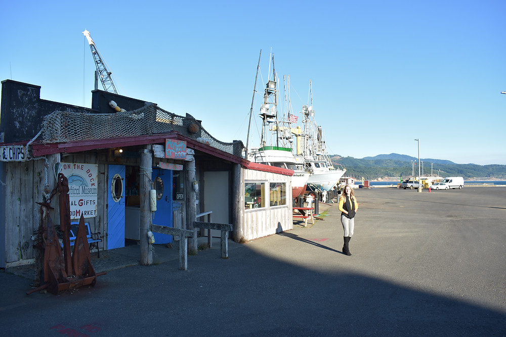 Griffs on the Dock in Port Orford, Oregon