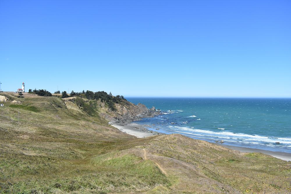Cape Blanco lighthouse and coastline