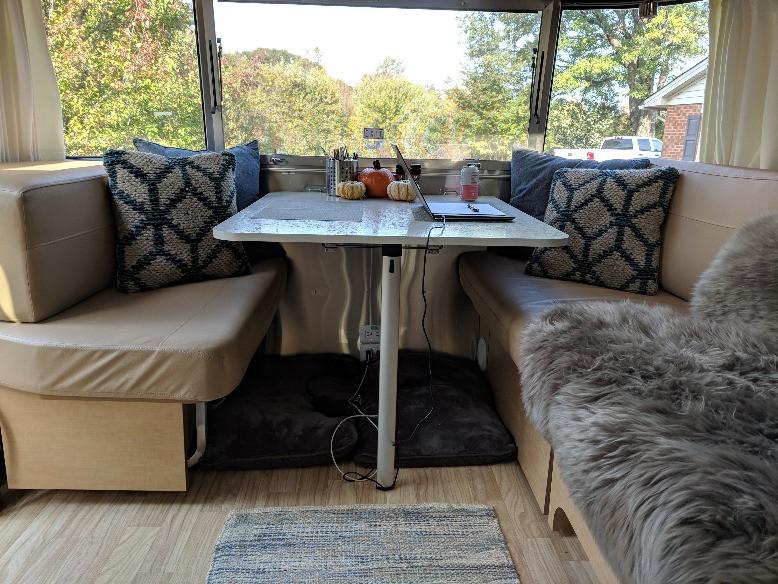 Airstream Dining Area
