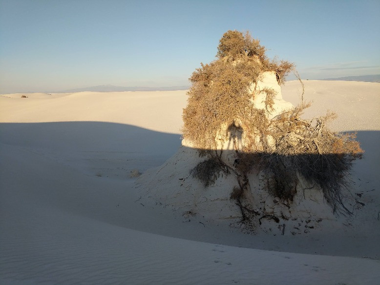 White Sands National Monument Pedestal with Shadows