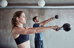 Workout mit Kettlebell