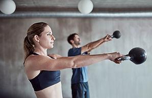 Gym class, kettle ball