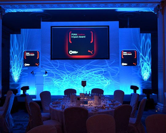 Swooshed Event Production Award Shows are a real show off event, let us wow you with our creative set designs and stunning lighting design and creative flare.