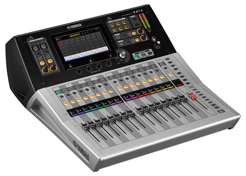 Yamaha TF1 sound desk available to hire. We also stock other sound desks from Yamaha and other manufacturers
