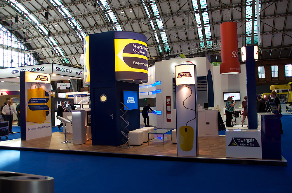 Exhibition stand design and installation services.