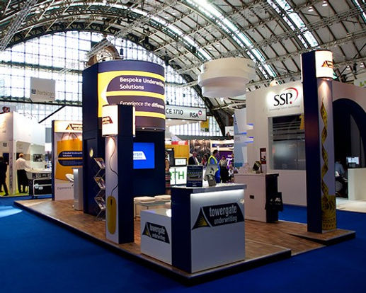 Swooshed Event Production Exhibitions, Our cerative team can design your next exhibition stand, bespoke to you using the latest technology making you stand out from the competition.