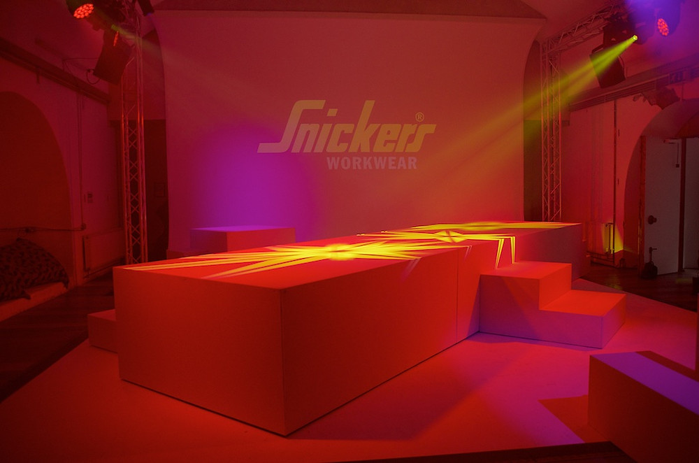 Event Design and management, full onsite event production, Snickers Workwear Live Event