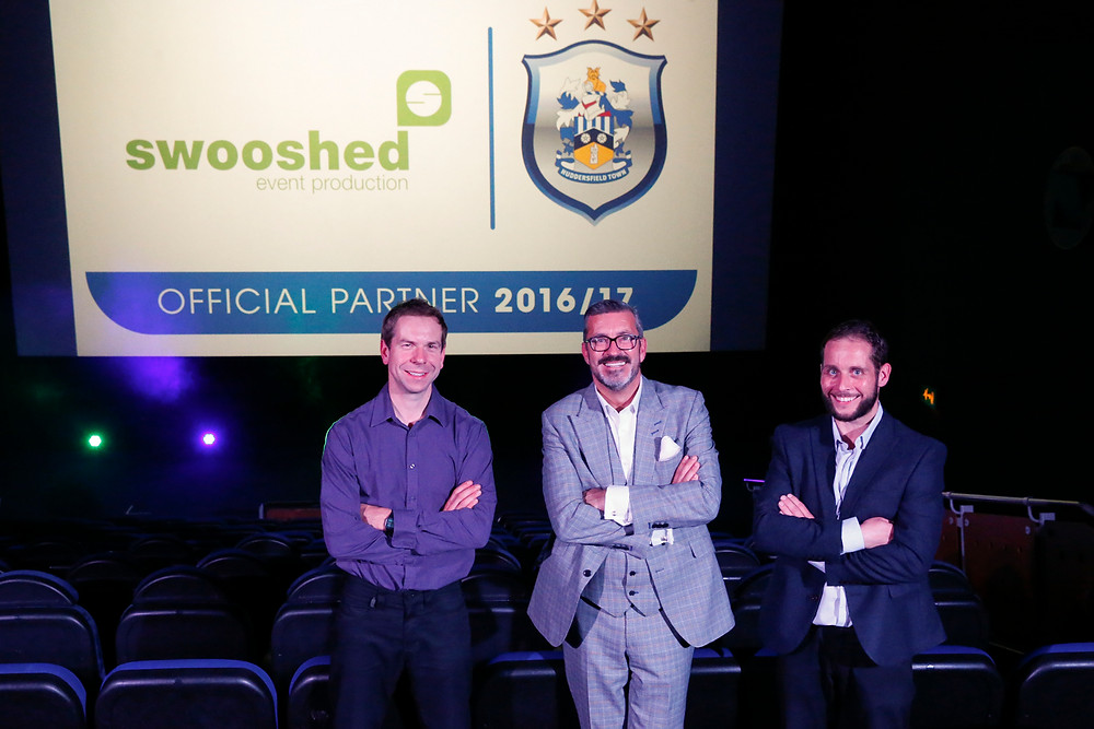 Swooshed become Huddersfield Town official club partner, directors James Fickling and Michael Lindsay sign partnership with Sean Jarvis