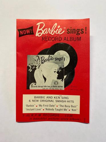 Now! Barbie Sings © 1961