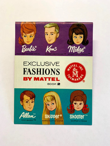 Exclusive Fashions by Mattel 6-Face Book 2 © 1964