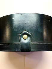Top side with closure. Missing carrying strap
