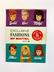 Exclusive Fashions by Mattel 6-Face Book 3 © 1964
