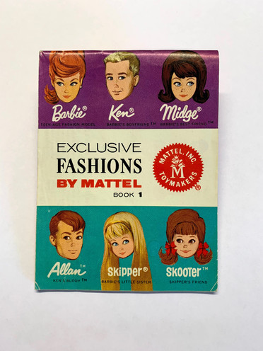Exclusive Fashions by Mattel 6-Face Book 1 © 1964