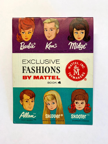 Exclusive Fashions by Mattel 6-Face Book 4 © 1964