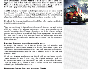 Saving time and money for Dorest Fire & Rescue Service