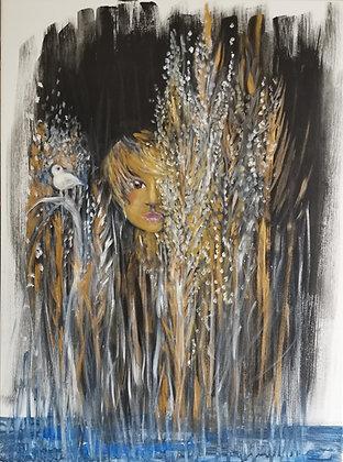Roseaux, Acrylique sur toile, 60 x 80 cm