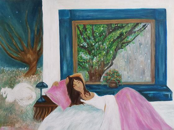 Matin Douillet, Huile sur toile, 80 x 60 cm