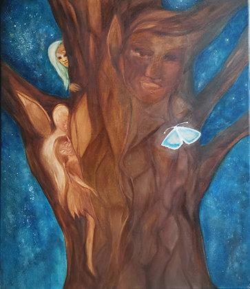Je Suis Avec Toi, Huile sur toile, 60 x 70 cm